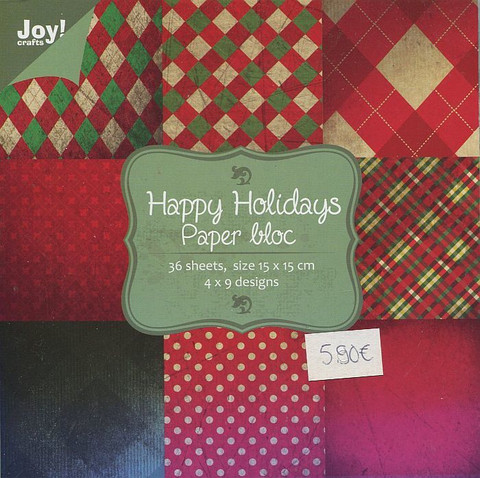 Joy Craft paperikko Happy Holidays 6x6