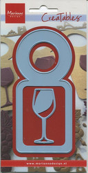 MD creatables stanssit pulloetiketti ja viinilasi