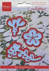 MD creatables stanssit kukkia ja köynnös