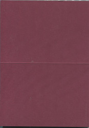 HC korttipohjat taitettava a6/20kpl viininpunainen