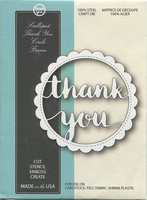 Memory box stanssi Scalloped thank you circle frame