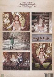 NS vintagekorttikuvat Hugs & Kisses