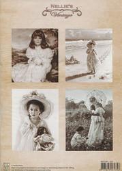 NS vintagekorttikuvat Girl