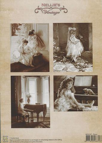 NS vintagekorttikuvat Piano 027