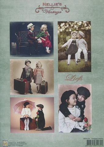 NS vintagekorttikuvat Vintage Friends 054