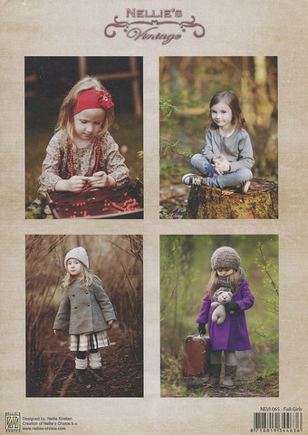 NS vintagekorttikuvat Fall Girls 065