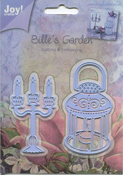Joy Craft stanssit Bille´s garden kynttelikkö ja lyhty