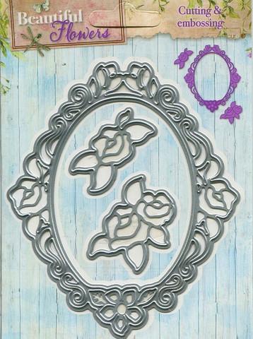 ST Beautiful Flowers stanssit ruusut ja kehys