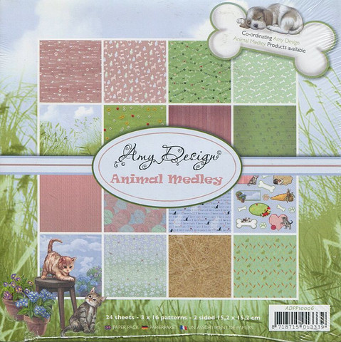 Amy Design Animal Medley paperikko 6x6