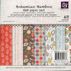 Prima Marketing paperikko Bohemian Bamboo 6x6