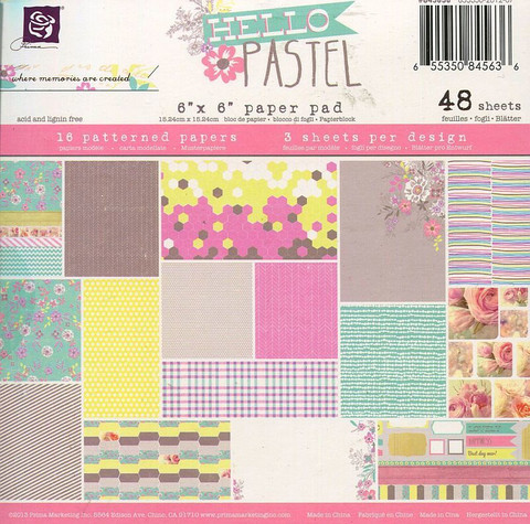 Prima Marketing paperikko Hello Pastel 6x6