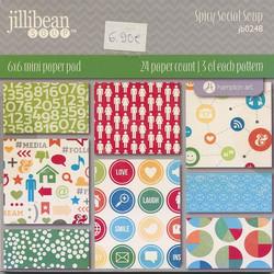 Jillibean soup paperikko Spicy Social Soup 6x6