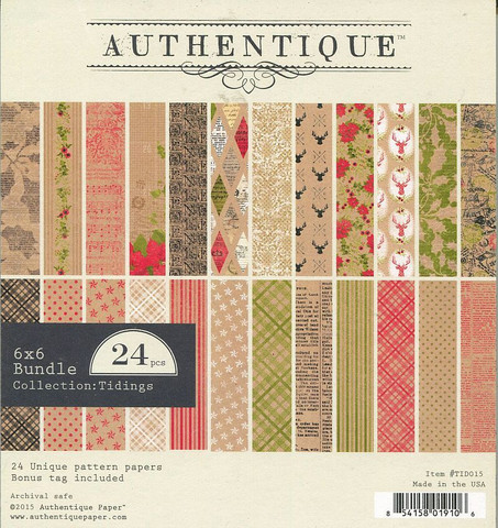 Authentique paperikko Tidings 6x6