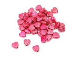 Akryylihelmet pinkit metallinhohtosydämet 160kpl