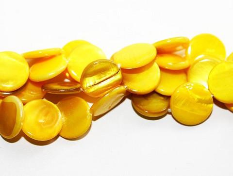 Simpukkahelmet kolikko 11mm/30kpl keltainen
