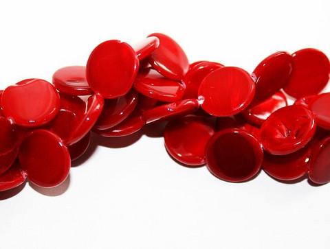 Simpukkahelmet kolikko 11mm/30kpl punainen