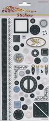 Tarra mustavalkoiset koristeet