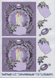 BD 3d-kuvat hääparit violetti