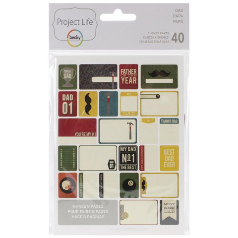 Project Life teemakortit Dad 40kpl