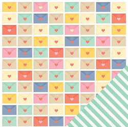 American Crafts paperi Lucky Charm Rainbows 12x12