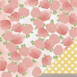 American Crafts paperi Neapolitan Fress Blooms 12x12