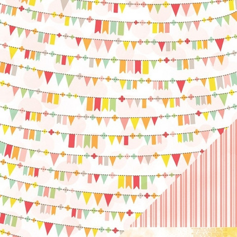 American Crafts paperi Neapolitan Silly Skedaddle 12x12