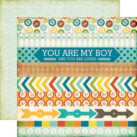 Echo Park paperi All About a boy Border Stripes  12x12