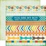 Echo Park paperi All About a boy Border Stripes  12x12