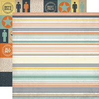 Echo Park paperi Brothers Stripe 12x12