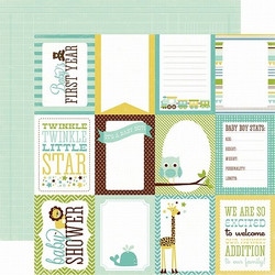 Echo Park paperi  Bundle of Joy Boy Journaling cards 12x12