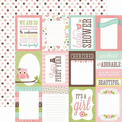 Echo Park paperi  Bundle of Joy Girl Journaling cards 12x12