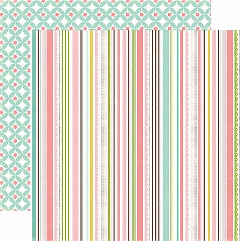 Echo Park paperi  Bundle of Joy Sweet stripe 12x12