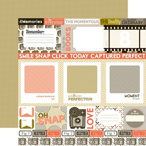 Echo Park paperi Oh, Snap Journaling Cards 12x12