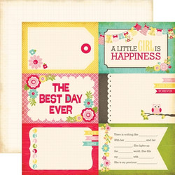 Echo Park paperi Sweet Girl 4x6 journaling cards 12x12