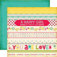 Echo Park paperi Sweet Girl Border Strips 12x12