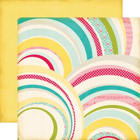 Echo Park paperi Sweet Girl Rainbows 12x12