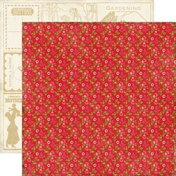 Echo Park paperi This & That Graceful Red Floral 12x12