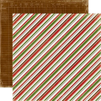 Echo Park paperi Very Merry X-mas Diagonal stripe 12x12