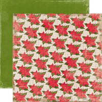 Echo Park paperi Very Merry X-mas Poinsettia 12x12