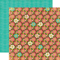 Echo Park paperi Life is good Brown Floral 12x12