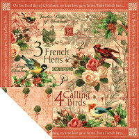 Graphic45 paperi The Twelwe Days of Christmas Calling birds