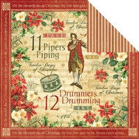 Graphic45 paperi The Twelwe Days of Christmas Drummers Drumming