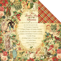 Graphic45 paperi The Twelwe Days of Christmas the twelve days of christmas