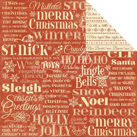 Graphic45 paperi Twas the night before christmas Merry Mistletoe