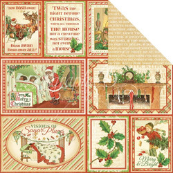 Graphic45 paperi Twas the night before christmas Long winter´s nap