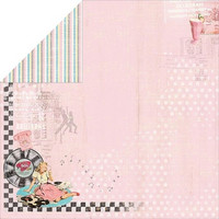 FabScraps paperi Milkshake Chic Strawberries 12x12