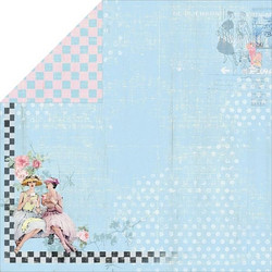 FabScraps paperi Milkshake Chic Blueberry 12x12