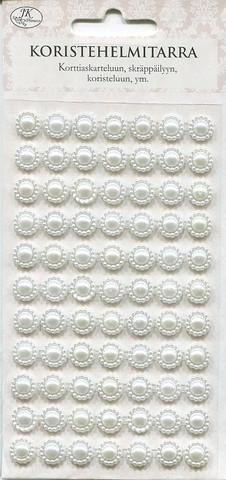 JK resiini koristehelmitarrat valkoinen 77kpl