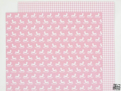 You Do paperi Rocking Horse Pink 12x12
