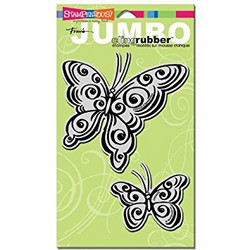 Stampendous leimasimet perhoset Jumbo Butterfly pair